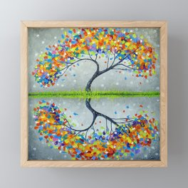 Family tree of happiness  Framed Mini Art Print