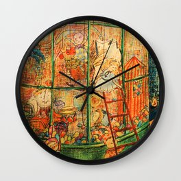 The Puppet Store Wall Clock