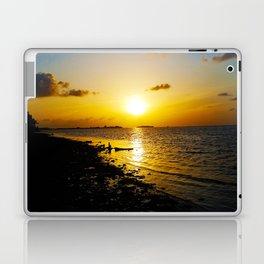 Seashore Serenity at Sunset Laptop & iPad Skin