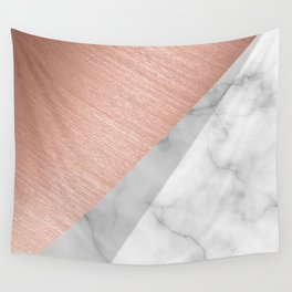 Rose Gold and Marble Wall Tapestry