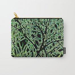 Tangled Tree Branches in Leaf and Lime Green Carry-All Pouch