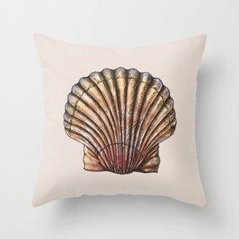 Watercolor Seashell Throw Pillow