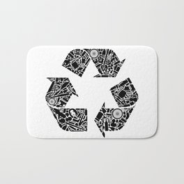 Recycling is Cool Bath Mat