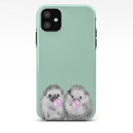 Playful Twins Hedgehog iPhone Case