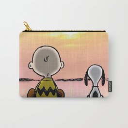 snoopy and charlie sunset Carry-All Pouch