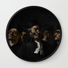 """Honoré Daumier """"A Meeting of Lawyers"""" Wall Clock"""