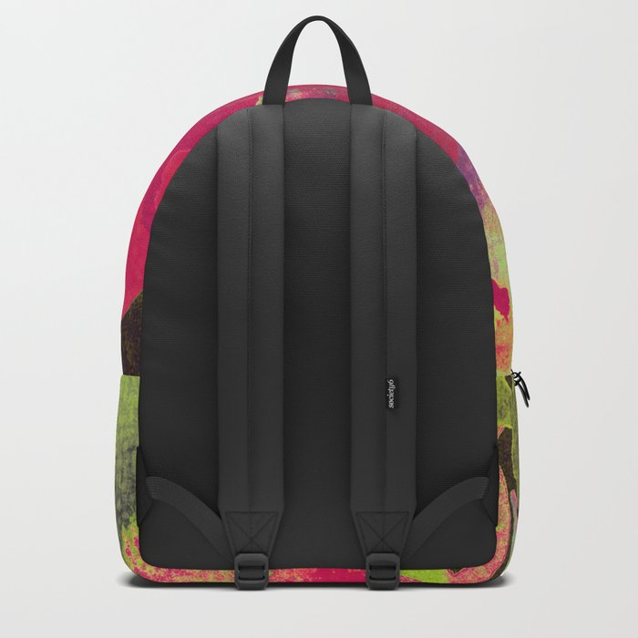 big abstract flower Backpack