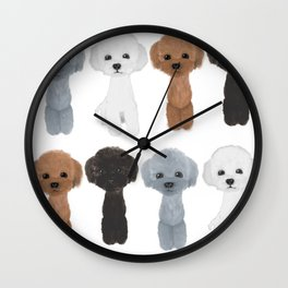 poodle allcolor Wall Clock