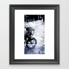 Retrollage 6.. Framed Art Print