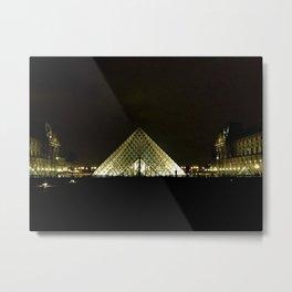 Louvre At Night Metal Print