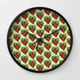 Love for Radishes Wall Clock