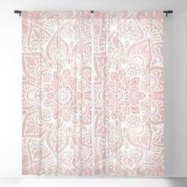Mandala Yoga Love, Blush Pink Floral Blackout Curtain