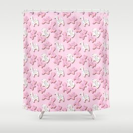 March of The Cookies Shower Curtain