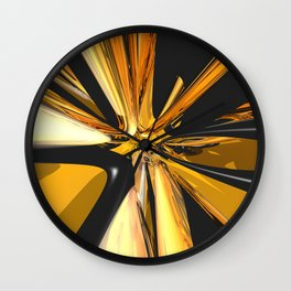 Black And Gold 3D Abstract Wall Clock