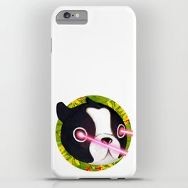 Boston Terrier Laser iPhone Case