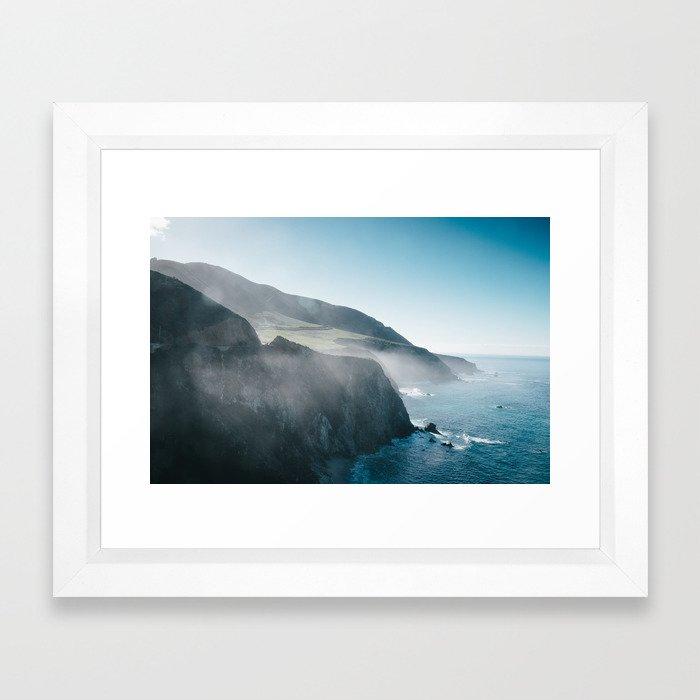 Sea Mist on the Big Sur Framed Art Print