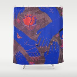 floating love Shower Curtain