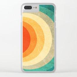 Color Palette Retro Clear iPhone Case