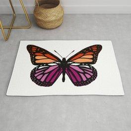 Lesbian Pride Butterfly Rug