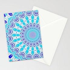mandala blue Stationery Cards