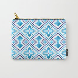 Blue embroidery pattern Carry-All Pouch