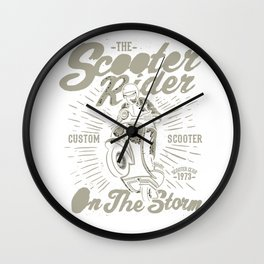 The Scooter Rider Wall Clock