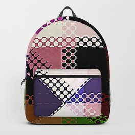 Pattern Multi Color Abstract Backpack