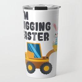 Kids Easter Digger product Bunny Backhoe Boys Girls Construction design Travel Mug