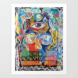 Memento Mori Graffiti Art by Emmanuel Signorino© Art Print