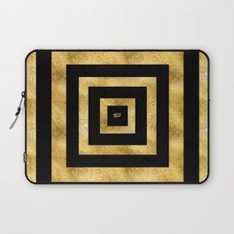 ART DECO SQUARES BLACK AND GOLD #minimal #art #design #kirovair #buyart #decor #home Laptop Sleeve