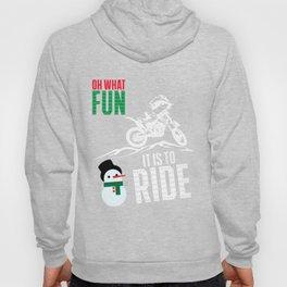 Dirt Bike T-Shirt Oh What Fun Christmas Motocross Gift Tee Hoody
