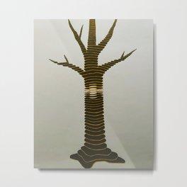 Topo Tree Metal Print