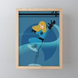 Invisible Woman Framed Mini Art Print