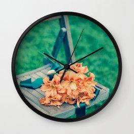 Forgotten - Orange Lilies Wall Clock