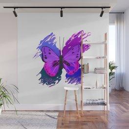 Purple Butterfly Wall Mural