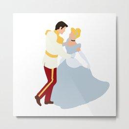 Cinderella and Prince Charming Metal Print