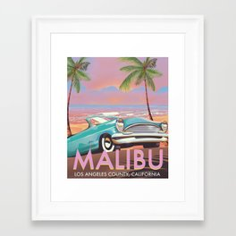Malibu Los Angeles California Framed Art Print
