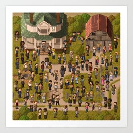 Super Walking Dead: Farm Art Print