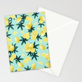 Lemon Twist Vibes #1 #tropical #fruit #decor #art #society6 Stationery Cards