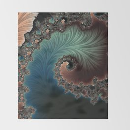 Velvet Crush - Fractal Art Throw Blanket