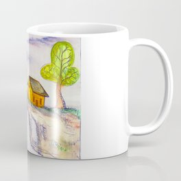 The Lonely Yellow House Coffee Mug