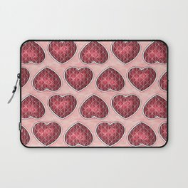 Wine Colored Hearts Laptop Sleeve