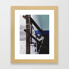 Afternoon Snow Flurries Framed Art Print