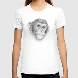 A Chimpanzee :: Not Monkeying Around T-shirt