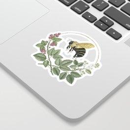 Bombus & Raspberries Sticker