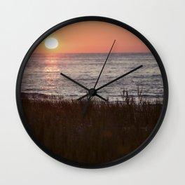 Sunset off McGregor Wall Clock