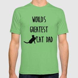 World's Greatest Cat Dad T-shirt