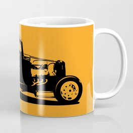 Classic American Thirties Hot Rod Car Silhouette  Coffee Mug