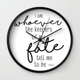 I am whoever Wall Clock