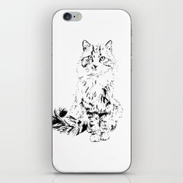 The Unimpressed Tabby iPhone Skin
